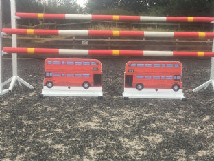 A Pair of Free Standing London Bus Fillers
